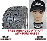 Pair of Goldspeed MXR (blue) 18x10-8 Race Tires and Free Unhinged ATV Hat!