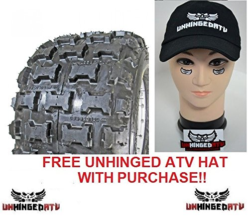 Pair of Goldspeed MXR (blue) 18x10-8 Race Tires and Free Unhinged ATV Hat! by Goldspeed