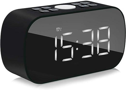 FPRW Radio Reloj Despertador, con Altavoz inalámbrico Bluetooth ...
