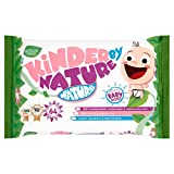 Kinder by Nature Jackson Reece Natural Unscented Biodegradable and Compostable Baby Wipes, White/Pink/Purple, 64Count
