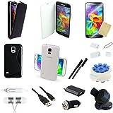 26 teiliges Samsung Galaxy S5 G900 Zubehör Set Pack Paket | 26 TEILE | SW / WS