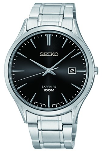 (Seiko Men's Analogue Quartz Watch with Stainless Steel Bracelet - SGEG95P1)