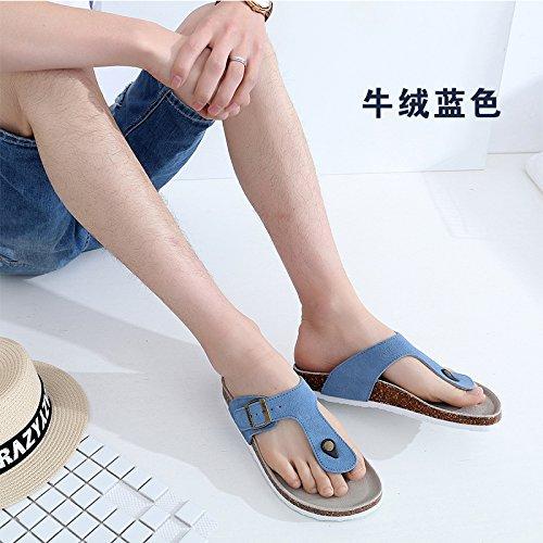 Fankou Männer Sind im im im Sommer Kühl und Student Lounge Hausschuhe Frauen Paare Beach Schuhe für Frauen H 36 Blau 6f6ed0