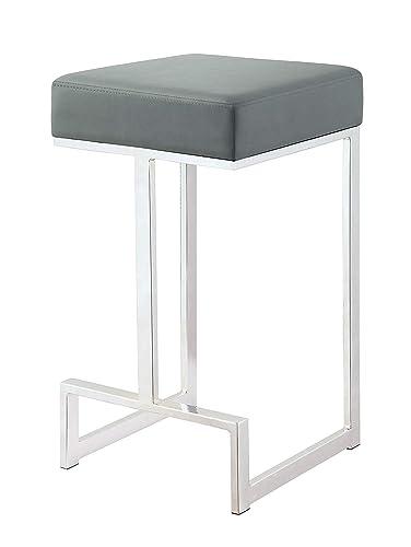 Leick Furniture Gray Adjustable Swivel Set of 2 Bar Stool