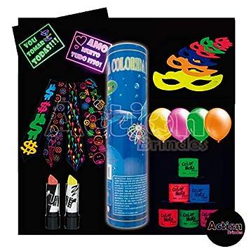 4878a73df Kit Festa Balada Neon  Amazon.com.br  Casa