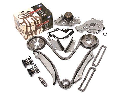 Evergreen TK5027HWOP2 00-04 Dodge Chrysler 2.7L Timing Chain Kit Water Pump Oil Pump(SBEC cam gear)