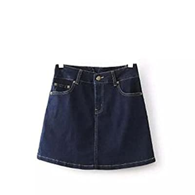 FSS Women's High Waist A-line Denim Skirt