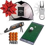 Callaway Tri-Ball Net Golf Gift Set w/ 18 FREE Practice Balls & PBS Pitchfix! (Home Range Deluxe)