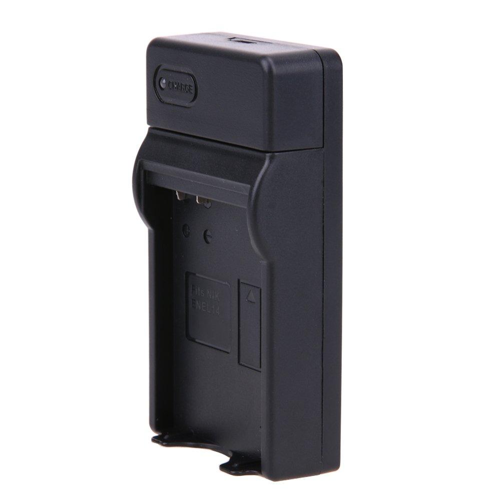 P7800 D3300 D5100 P7100 Replacement EN-EL14,EN-EL14A Battery Charger Ultra Slim Micro USB Charger Nikon D3100 D5200 P7700 D3200 Coolpix P7000 D3400 DF D5600 D5300 D5500