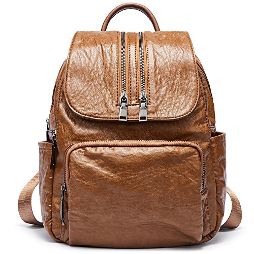 Backpacks Purse for Women PU Leather Fashion Shoulder Bag Ladies Large Travel Bag by Romere