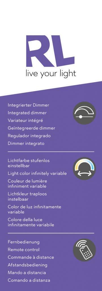 Reality Reality Reality Leuchten R62422142 Pegasus A+, LED Deckenleuchte, Acryl, 20 W, Integriert, Smoke, 39,6 x 39,6 x 8,6 cm 0b21df