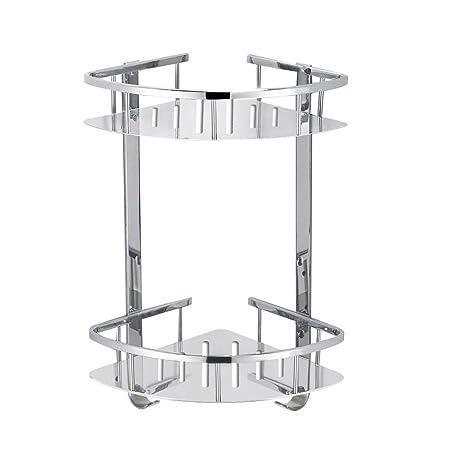 Foccoe Bathroom Corner Shower Shelf Shelves, Corner Basket Two-Tier ...
