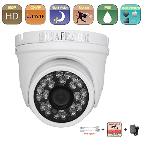 HOSAFE 13MD4 HD IP Camera Outdoor 1.3MP 1280x960P Night Vision ONVIF H.264 Motion Detection Email Alert Remote View Via Smart Phone/Tablet/PC
