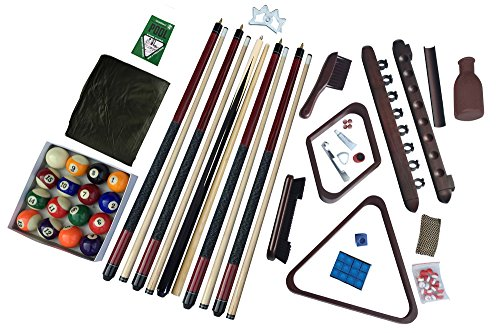 Carmelli Deluxe Billiards Accessory Kit - Mahogany