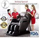 New FOREVER REST FR-5Ks Premier Back Saver, SHIATSU, Zero Gravity Massage Chair with Foot Rolling and Built in Heat, Stretch Mode (Dark Brown)