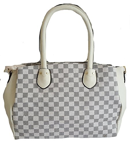 Cream Bag Handbag Strap amp; Key With Inspired Padlock Gossip Shoulder Tote amp; Detachable Check Girl Check Designer Shoulder 04W7pwqT