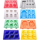 Vibrant Kitchen Set of 8 Ice Cube Trays And Candy Silicone Molds for Star Wars Theme Baking & Gift E-book