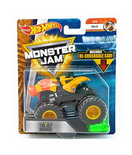 Hot Wheels Monster Jam 2018 Mud Nitro Hornet (with Re-Crushable Car) 1:64 Scale