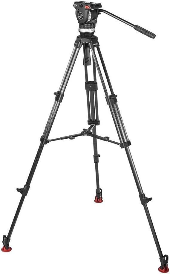 Sachtler Stativ Mit Fluidkopf Höhe Max 170 Cm Schwarz Kamera
