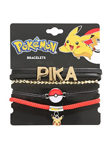 Pokemon Pikachu Bracelet Set