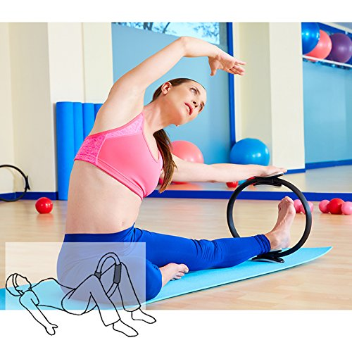 TOPLAND™ Pilates Ring Premium 14'' Power Resistance Full Body Toning Fitness Circle