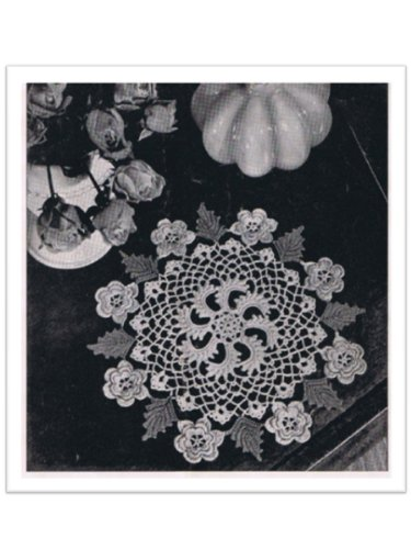 2466 Irish Rose Doily Vintage Crochet Pattern Kindle Edition By