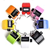 Tebery Pack of 8 Color Hand Tally Counter 4 Digit