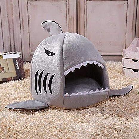 Blue Bridge Cama de Perro Lindo cálido Interior tiburón Forma Perro Gato sofá Cama Perrito Gatito Cama Estera_Grey M para Gato o Perro: Amazon.es: Productos ...