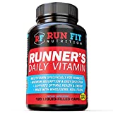 Runner's Daily Vitamin – Multivitamin – 2 Month Supply! – Endurance, Energy, Immune Support – Liquid Filled – Gentle On Your Stomach …
