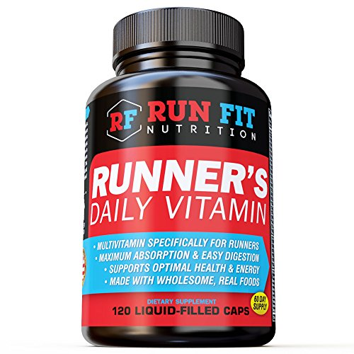Runner's Daily Vitamin - Multivitamin - 2 Month Supply! - Endurance, Energy, Immune Support - Liquid Filled - Gentle On Your Stomach …
