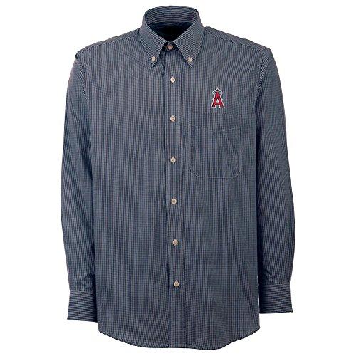 (Los Angeles Angels LA Men's Focus Button Down Shirt (Medium))