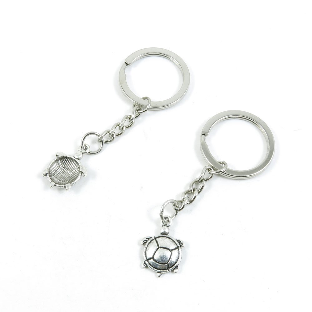 1 Pieces Keychain Door Car Key Chain Tags Keyring Ring Chain Keychain Supplies Antique Silver Tone Wholesale Bulk Lots Y7FP1 Tortoise Turtle