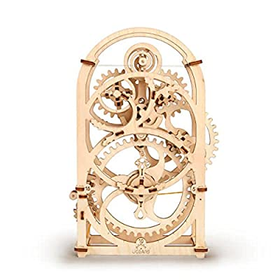S.T.E.A.M. Line Toys UGears Models 3-D Wooden Puzzle - Mechanical Clockwork Timer: Toys & Games