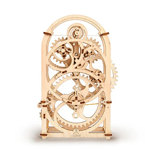 Ugears 3D mechanical Model Timer wooden puzzle for adults, teens and kids Eco Friendly DIY Craft Kit