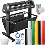 VEVOR Vinyl Cutter 34Inch Vinyl Cutter Machine Manual Vinyl Printer LCD Display Plotter Cutter Sign Cutting with Signmaster Software and Accessories
