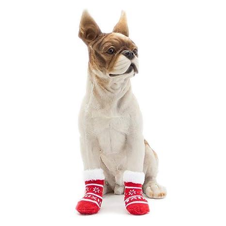 BulzEU - – Calcetines de Navidad para Mascotas, para Gatos, Perros, cálidos,