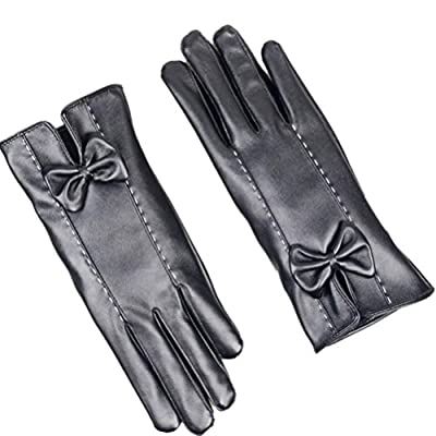 TAORE Women's Cashmere Lined Luxurious Leather Touch Screen Gloves