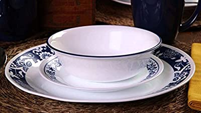 Corelle 3567 Livingware True Blue 16-pc Dinnerware Set, White