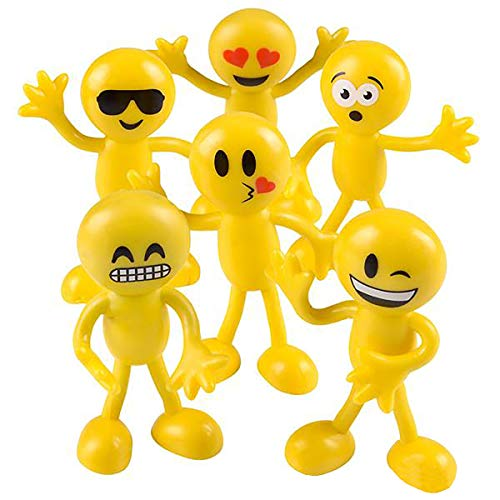 CUZAIL Emoji Party Supplies - Party Favors for Adults & Kids- Emoji Bulk Toys - Pack of 24 Emoji Figurines - Fun Stocking Fillers & Party Decorations - 3