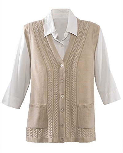 National Classic Sweater Vest, Oatmeal, Extra Small - Extra Small Oatmeal