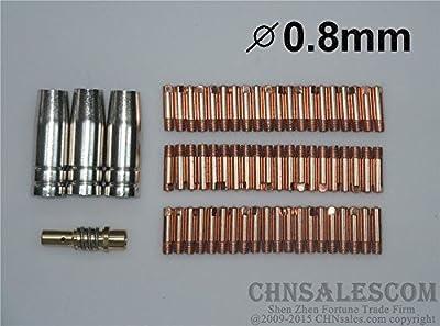 CHNsalescom 64 PCS MB-15AK Contact Tip 140.0059 Gas Nozzle 145.0075 TIP Holder 002.0078