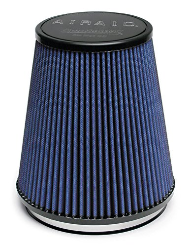 Airaid 703-462 Universal Clamp-On Air Filter: Round Tapered; 6 in (152 mm) Flange ID; 7 in (178 mm) Height; 7.25 in (184 mm) Base; 5 in (127 mm) Top