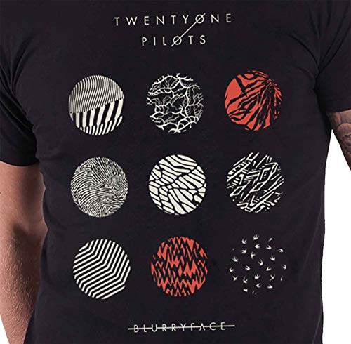 fdd51fb59 Twenty One Pilots T Shirt Blurryface Pattern Circles Official Mens Black