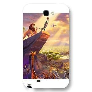Customized White Hard Plastic Disney Cartoon the Lion King Samsung Galaxy Note 2 Case