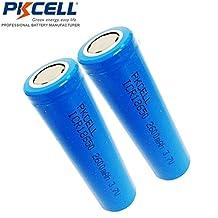 2 Pack 18650 ICR18650 3.7V 2600mAh Li-ion Rechargeable Battery Flat Head