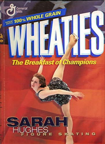 Wheaties empty 18 oz. cereal box 'Sarah Hughes 2002 Ice Skating Champion'