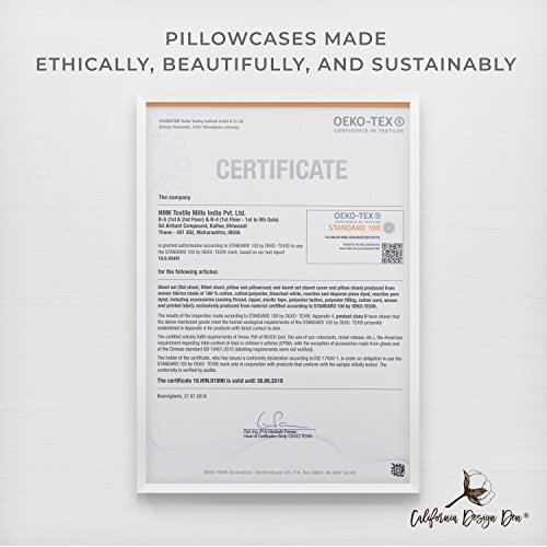 California Design Den 600 Thread Count Pillowcase Set of 2, 100% Long-Staple Combed Cotton, Breathable, Soft Sateen Weave Luxury Hotel Quality Pillow Cases (Standard, Spa) by California Design Den (Image #7)