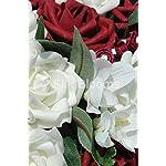 Large-Ivory-Deep-Red-Rose-Wedding-Table-Arrangement-w-Freesia