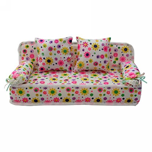 lovely-miniature-flower-prints-sofa-couch-with-2-cushions-for-barbie-doll
