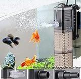 Fish Tank Filter 3-in-1 Aquarium Submersible Pump Water Pump for Fish Tank 7W 8W 20W 25W (CHJ-502/7W)